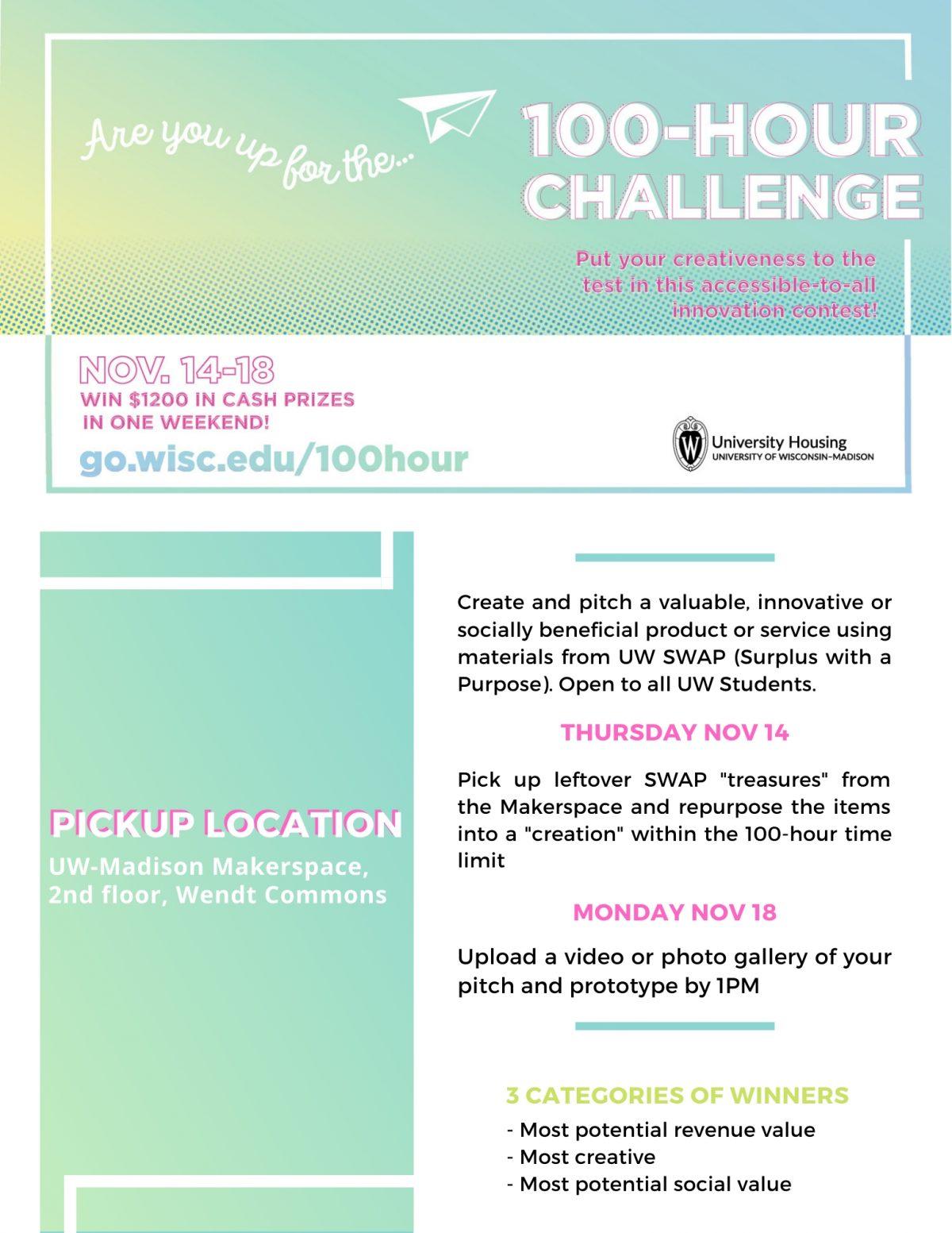 100 hour challenge flyer